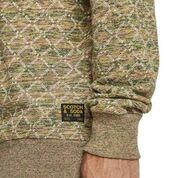 Scotch & Soda All-Over Printed Sweater in Multicolour Melange Felpa  Combo C 0219