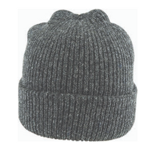 Load image into Gallery viewer, Fishermans Rib Double Knit Ragg Wool Beanie in Charcoal