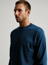 Load image into Gallery viewer, Mr Simple Fair Trade Heavy Weight Longsleeve Tee in Washed Indigo