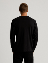 Load image into Gallery viewer, Mr Simple Fair Trade Heavy Weight Longsleeve Tee in Black