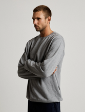 Load image into Gallery viewer, Mr Simple Fair Trade Crew Neck Fleece in Grey Marle