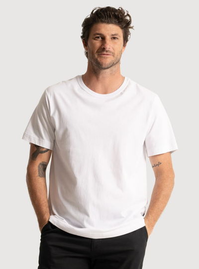Mr Simple Reginald Tee in White