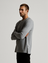 Load image into Gallery viewer, Mr Simple Waffle Long Sleeve Tee in Grey Marle