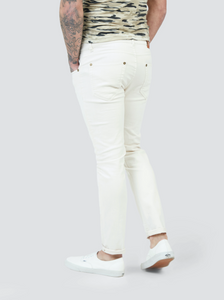 Pearly King Volcanic 5 Pocket Denim Jean in Off White