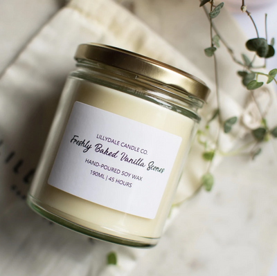 Lillydale Candle Co Freshly Baked Vanilla Scones Soy Wax Candle