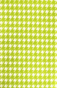 Hanky Fever Men's Handkerchief / Houndstooth in Lime