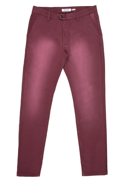 Pearly King Haste Four Pocket Pants in Burgundy | Buster McGee Daylesford