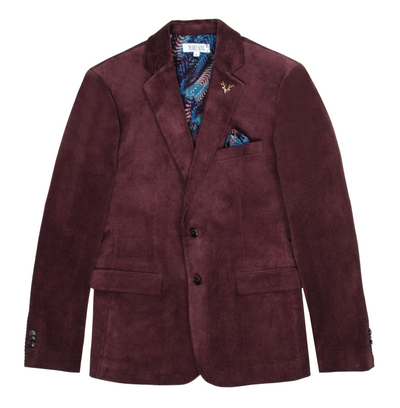 Pearly King Coil Corduroy Tailored Blazer in Burgundy | Buster McGee Daylesford