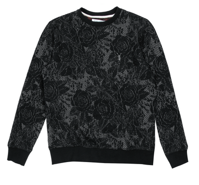 Pearly King - Bristle Floral Crewneck Sweater in Black | Buster McGee Daylesford