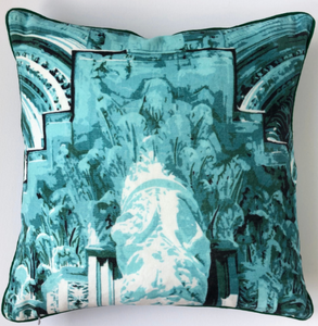 Siena Cotton Velvet Cushion by Peter Daavid