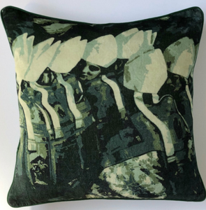 Vatican Cotton Velvet Cushion by Peter Daavid