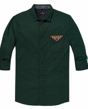 Load image into Gallery viewer, Scotch & Soda Relaxed Fit Classic Shirt with Chest Pocket Deep Green 0219