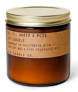 P F Candle Co Amber & Moss Candles