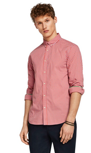 Stretch Gingham Shirt Regular Fit