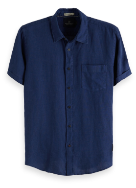 Garment Dyed Linen Shortsleeve Shirt