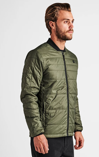 Roark Great Heights Bomber Jacket in Military Green
