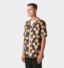 Load image into Gallery viewer, iLoveUgly Cuban Collar Short Sleeve Shirt Datura Side