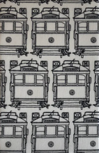 Load image into Gallery viewer, Hanky Fever Men's Trams Handkerchief  Black on White