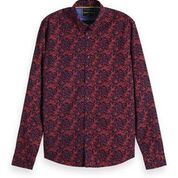 Load image into Gallery viewer, Scotch & Soda Classic All-Over Printed Shirt Regular  Fit Combo A Outline Front