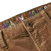 Load image into Gallery viewer, Scotch & Soda Ralston 5 Pocket Corduroy Pant in Nutmeg Logo Detail
