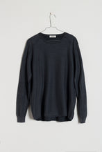 Load image into Gallery viewer, Crossley WIFTC Longsleeve Cotton Crewneck Knit in Charcoal