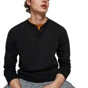 Load image into Gallery viewer, Scotch & Soda Classic Longsleeve Grandad in Black