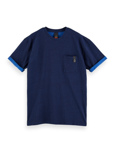 Scotch & Soda - Short Sleeve Layer Look Tee in Navy | Buster McGee