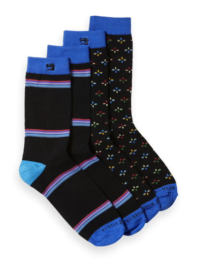 Scotch & Soda Classic Socks in Colourful Pattern Combo B