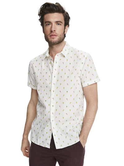 Scotch & Soda All-over Printed Short Sleeve Shirt Combo D