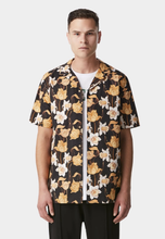 Load image into Gallery viewer, iLoveUgly Cuban Collar Short Sleeve Shirt Datura Front