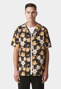 iLoveUgly Cuban Collar Short Sleeve Shirt Datura Front