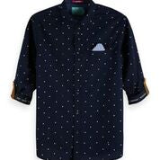 Scotch & Soda Cotton Shirt Regular Fit with Chest Pocket  Combo B 0218