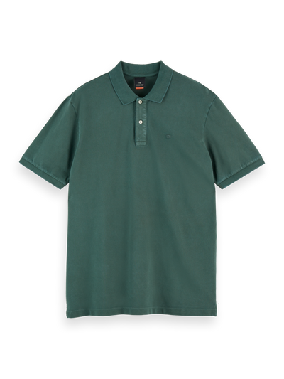 Scotch & Soda - Garment-Dyed Stretch Cotton Pique Polo in Sage | Buster McGee Daylesford