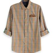 Load image into Gallery viewer, Scotch & Soda Relaxed Fit Classic Shirt with Chest Pocket Orange 0221