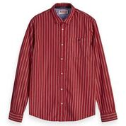 Load image into Gallery viewer, Scotch & Soda Classic Breton Stripe Shirt Regular Fit Combo B Front Outline