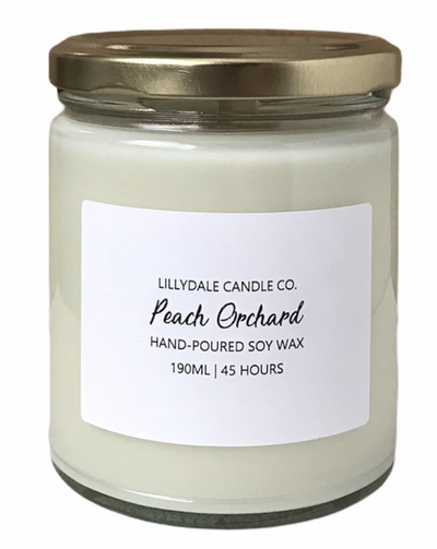 Lilydale Candle Co - Peach Orchard Soy Wax Candle (Limited Edition)