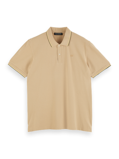 Scotch & Soda Classic Cotton-Pique Polo in Sand | Buster McGee Daylesford