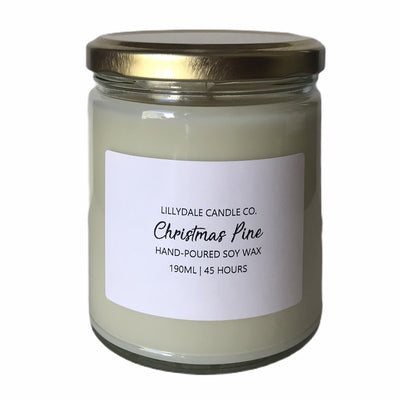 Lillydale Candle Co. Christmas Pine Soy Wax Candle (Limited Edition)