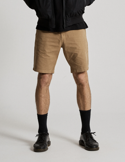 Mr Simple Standard Chino Shorts in Khaki | Buster McGee Daylesford