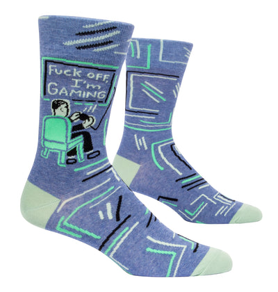 BlueQ - Men's Socks - Fuck Off I'm Gaming
