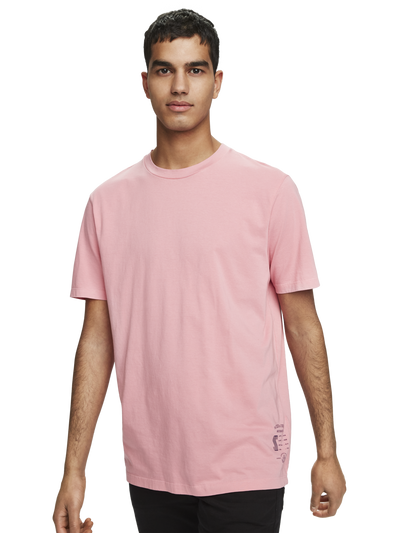 Scotch & Soda Classic Crewneck Tee in Organic Cotton in Lolly Pink