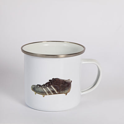 Sporting Nation Three Stripe Football Boot Enamel Mug