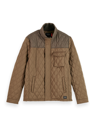 Scotch & Soda - Classic Short Quilted Jacket in Military | Buster McGee Daylesford
