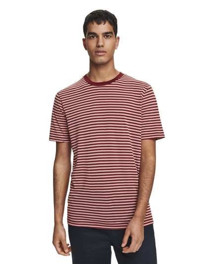 Scotch & Soda Cotton and Lyocell Striped Tee Combo A