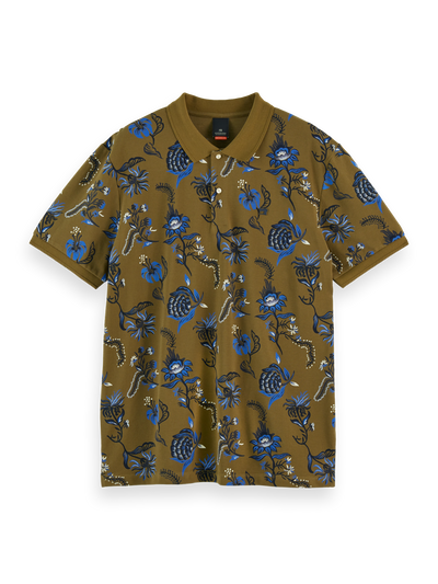 Scotch & Soda Classic All-Over Printed Cotton Pique Polo Combo B | Buster McGee Daylesford