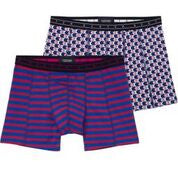 Boxer Short in colourful all-over print & stripe