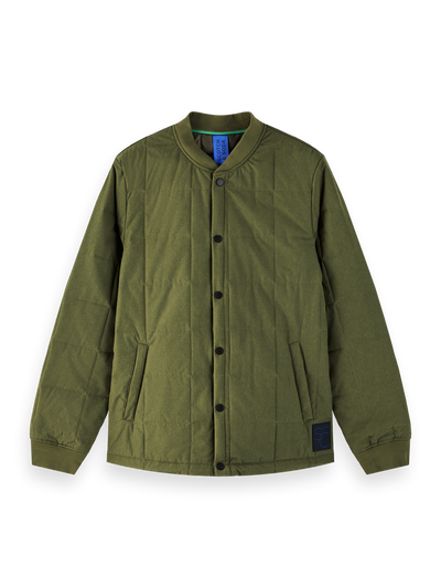 Ams Blauw Lightweight Quilted Bomber Jacket in Military Green | Buster McGee Daylesford