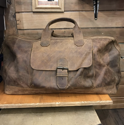 Indepal - Phileas Leather Duffle in Crazy Horse Brown
