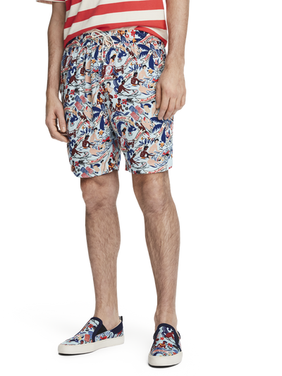 Scotch & Soda Printed Hawaiian Shorts Combo A