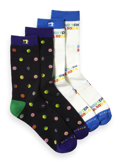 Scotch & Soda Classic Socks in Colourful Pattern Combo A